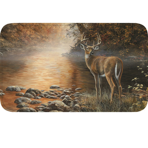Rivers Edge Deer Scene Memory Foam Mat 31in x 20in