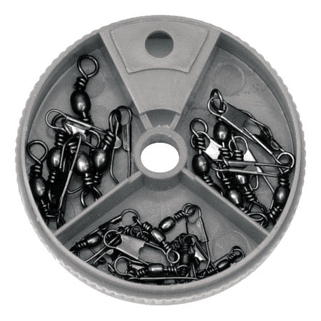 Eagle Claw Dial Box Swivel Black 20Pc Assorted