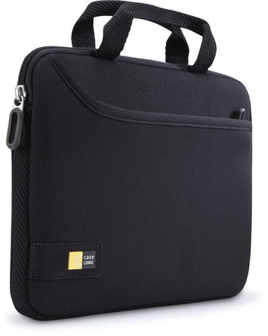 "Case Logic - iPad and 10"" Tablet Attache with Pocket - Black"