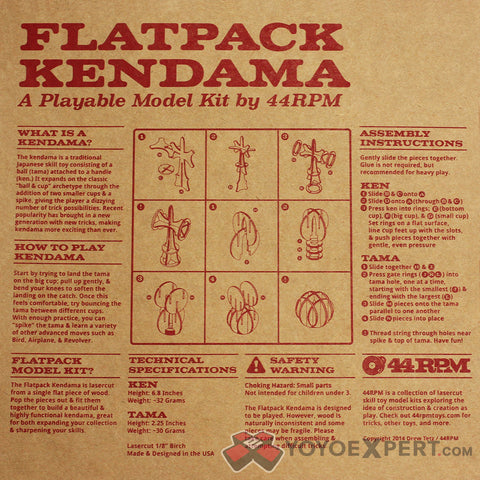 44RPM Flat Pack Kendama