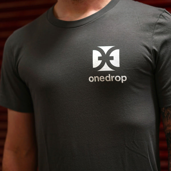 One Drop Gray Logo T-Shirt-3