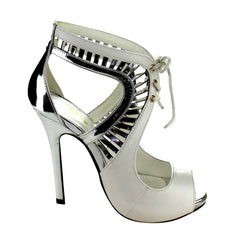 ULA-1 ATHENA Lace Up Cut Out Stiletto Heels
