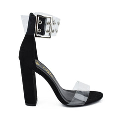SO ME SENA CLEAR STRAP Heel Shoe