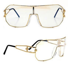 SU- LARGE CLASSIC RETRO FRAME CLEAR LENS GLASSES