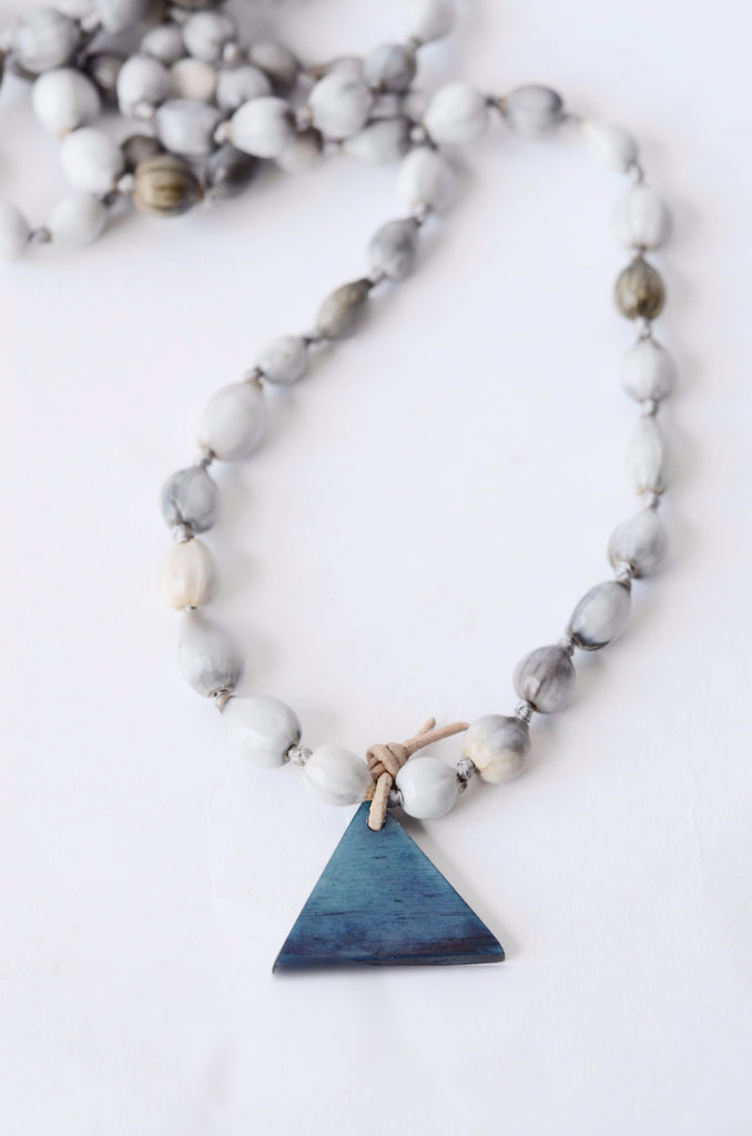Indigo Pyramid Necklace