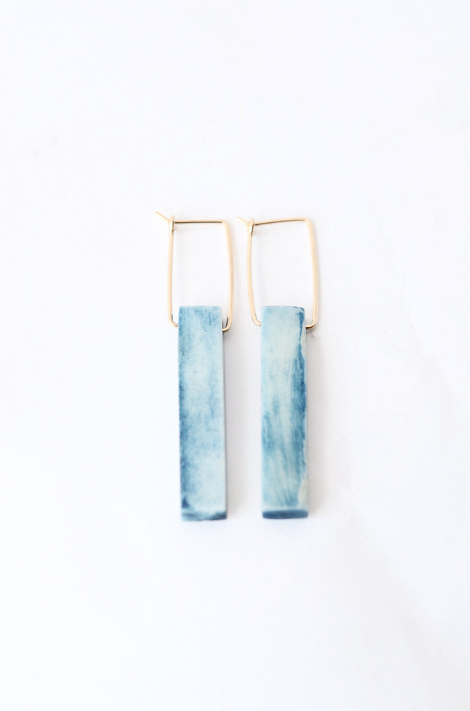 Indigo Tablet Earrings