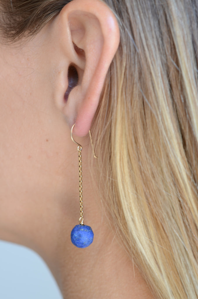 Two Rivers Lapis Earring