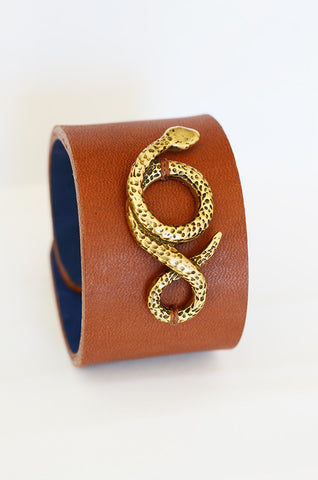 Clay Witt Serpentine Leather Bracelet