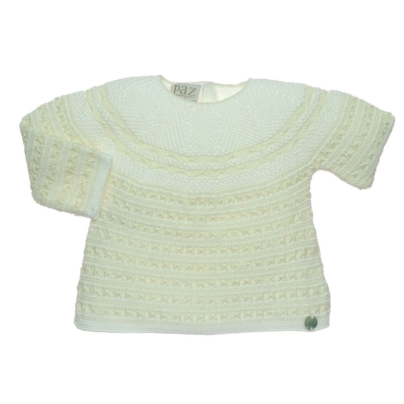 Cream Hand Knitted Sweater Set