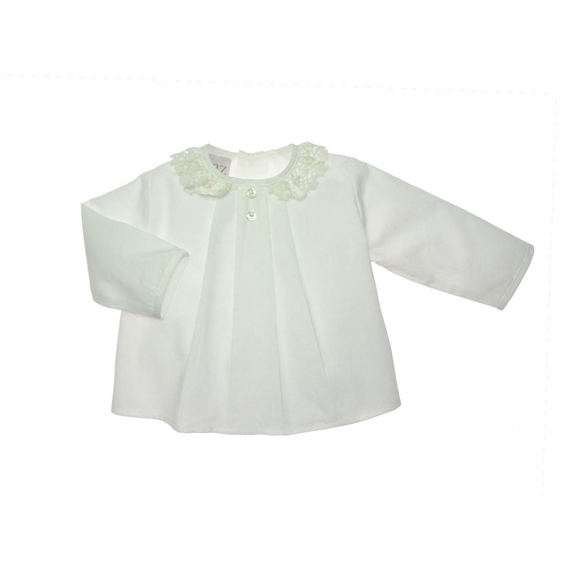 Cream Newborn Blouse & Knickers Set