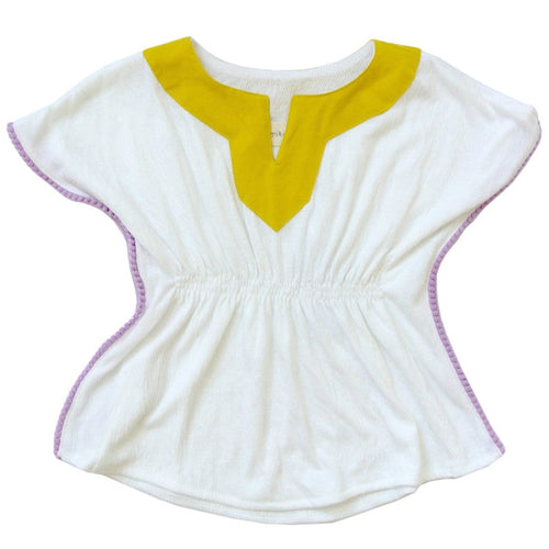 white maui havana top with a gold collar
