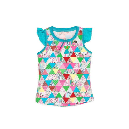 Triangular Multi Colored Top