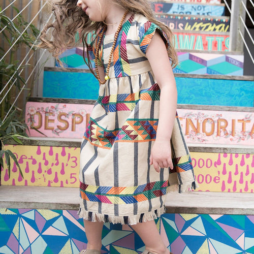 Suri Multi Peru Embroidery Dress