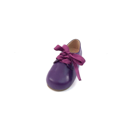 violet ribbon shoe