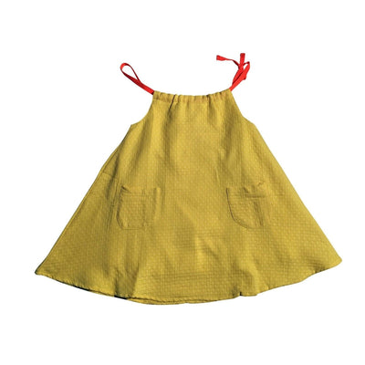 Yellow Dot Faye Dress