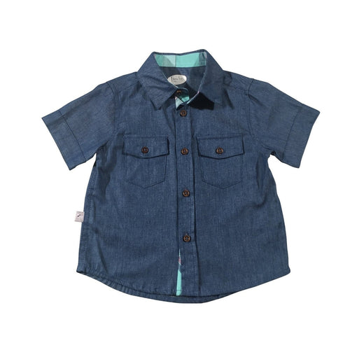 Denim Blue Collared Shirt