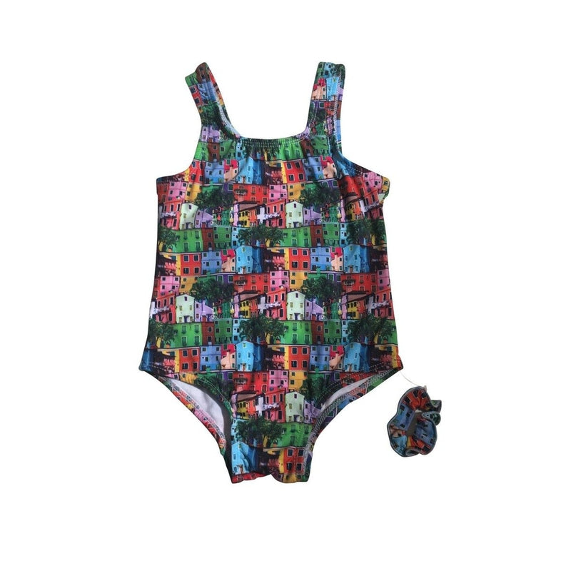 One Piece City Block Swimsuit