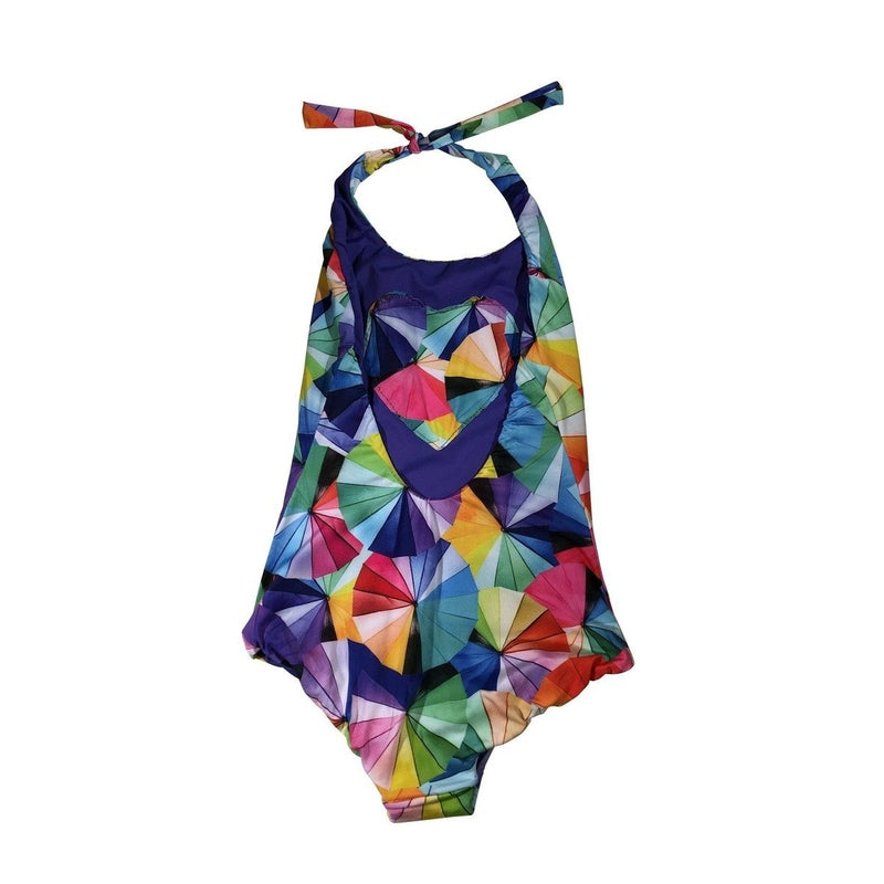 reversible geometric umbrella swimsuit