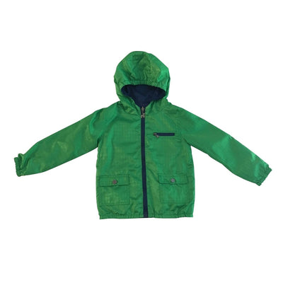 Navy & Green Reversible Rain Jacket