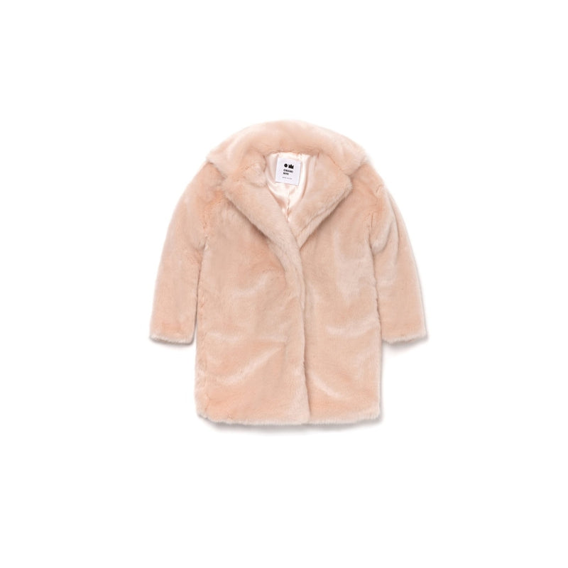 Pale Pink Fur Coat