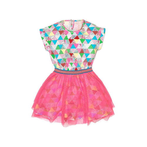 Triangular Multi Colored Dress