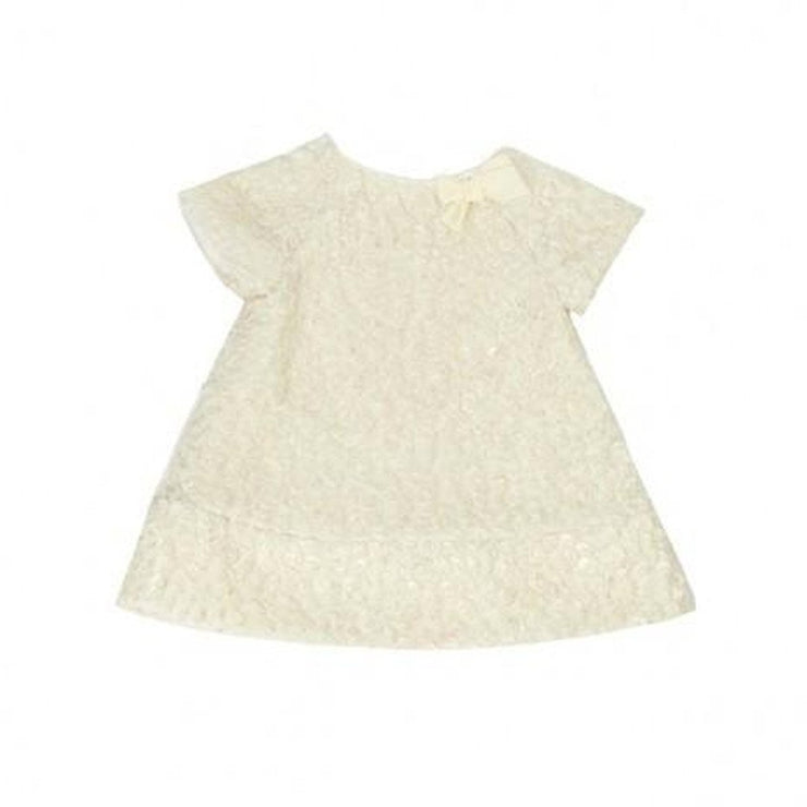 Textured Woven Baby Dress