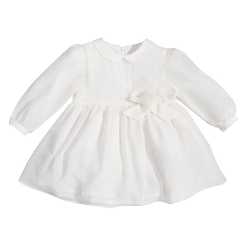 Cream Woven Baby Dress