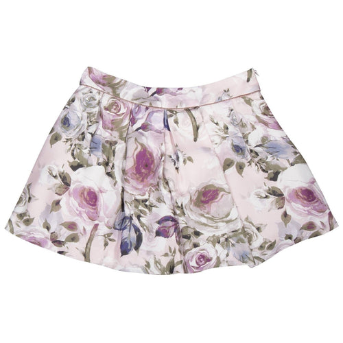 floral woven skirt