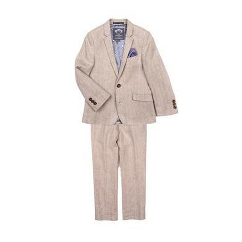 2 pc mod khaki herringbone suit