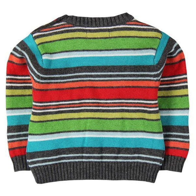 knitted striped crewneck