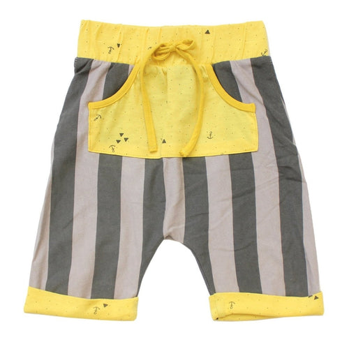 gray and yellow striped cole surfing cowboy shorts