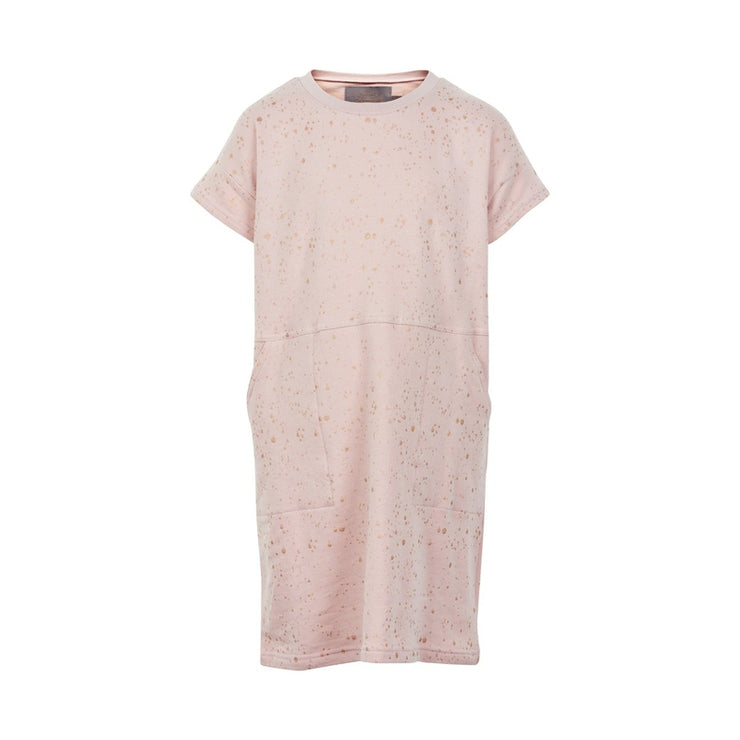 Dusty Rose Tunic with Gold Metallic Splatters