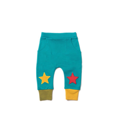 Peacock Blue Star Jogger