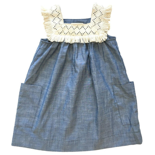 Chambray Baja Fringe Sundress