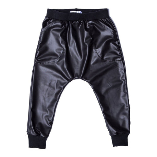 faux leather harem pant