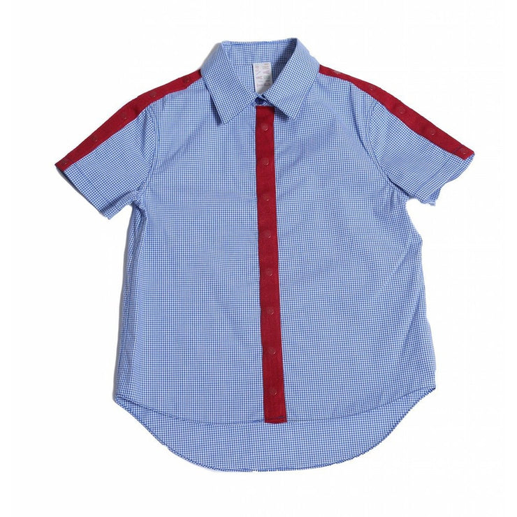 Multi Snap Classic Short Sleeve Shirt With Red