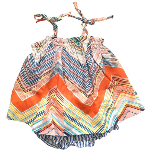 ruffle kaleidoscope sunsuit