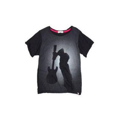 Guitar Graphic Short Sleeve Black Tee