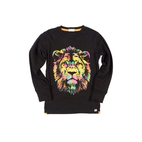 Graphic Long Sleeve Lion Tee