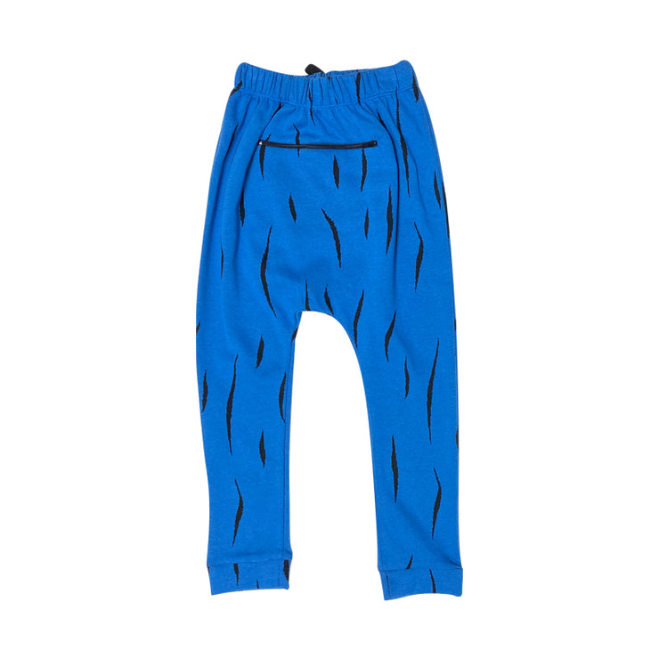 Blue Hairy Slouch Pant