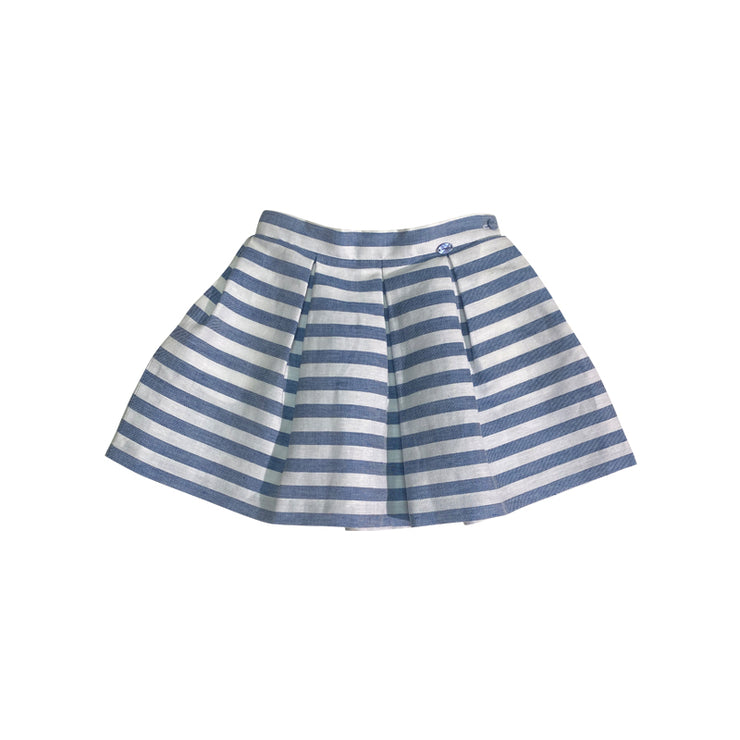 Light Blue Striped Skirt