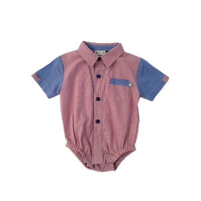 Chambray Striped Onesie