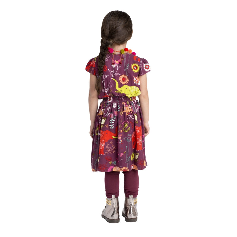 Burgundy Magical Forest Dress