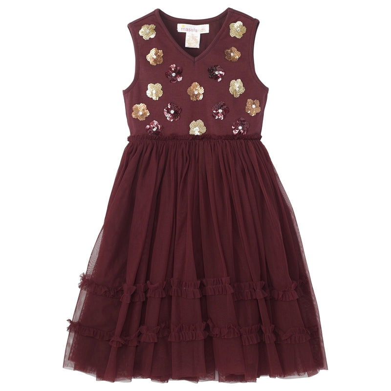 Burgundy Liana Dress