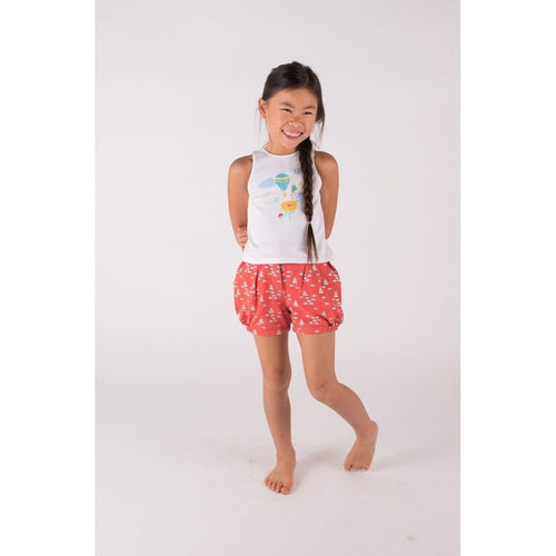baloon red shorts