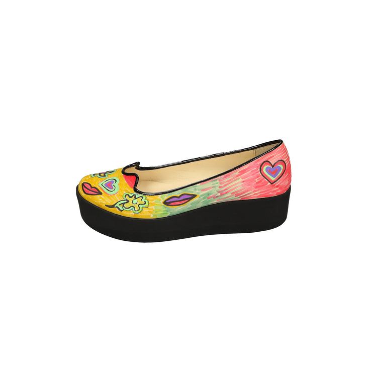 Multicolor Painted Platforms