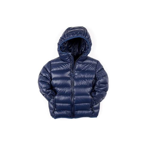 Navy Blue Feather Weight Down Puffer