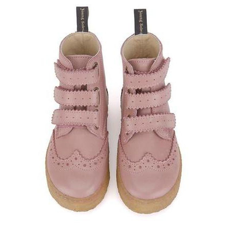 freddie pink leather high top sneaker boot