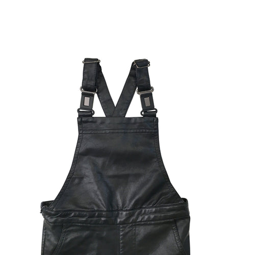 Faux Leather Overall