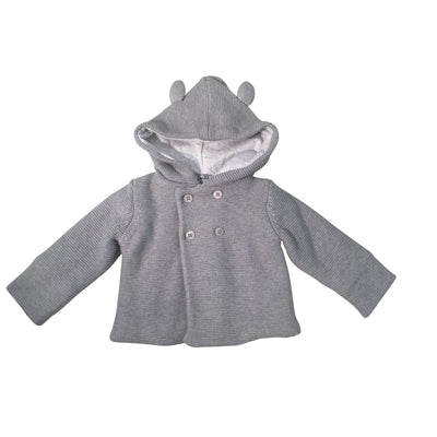 Grey Sweater Jacket With Ears